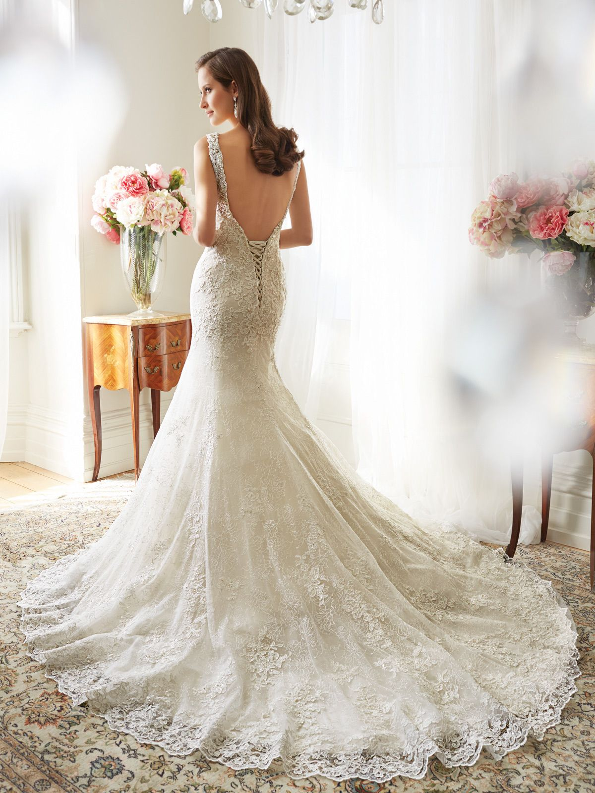0824908d528 Sophia Tolli - Y11561 – Teal -Fit and flare wedding dress with bateau  neckline