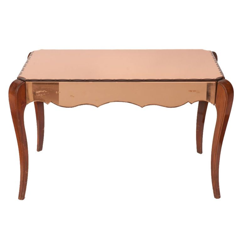 Darling Rose Gold Mirrored Side Table Interiors Rose
