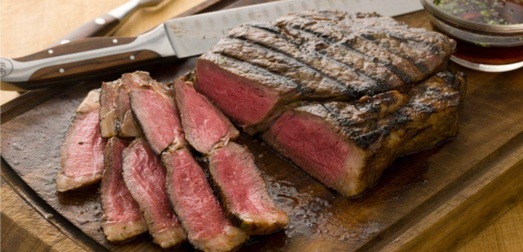 Grilled sirloin steak with cilantrosesame marinade