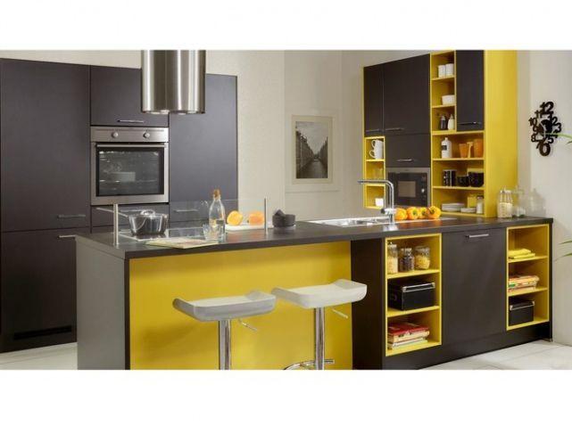 Une Cuisine Grise électrisante Apportez Du Peps à Votre Cuisine En - Cuisine noir et jaune