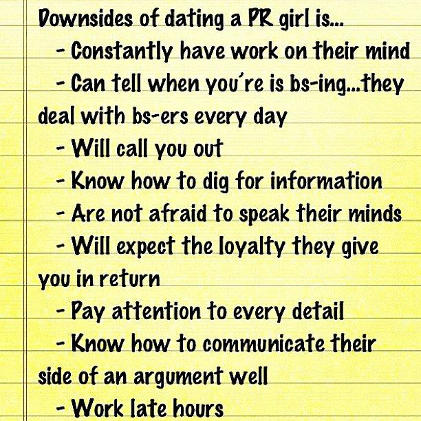 Public relations dating