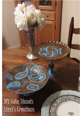 Lizzi's Creations: DIY Cake Stand