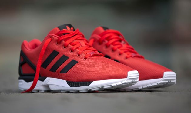 Adidas Originals Zx Flux Poppy Black Running White Red Sneakers Nike Shoes Outlet Adidas Zx