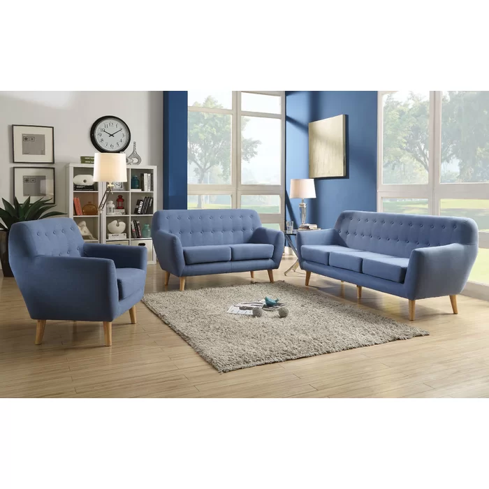 Jeb Sofa 3 Piece Living Room Set Living Room Sets
