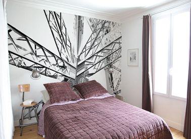 Astuces d co pour agrandir une petite chambre poser du for Peut on poser du papier peint sur du papier peint