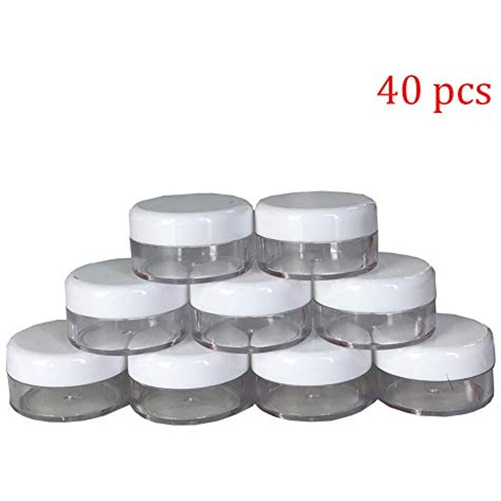 40pcs 10 Gram Plastic Cosmetic Containers With Lids For Lotion Creams Toners Lip Balms Makeup Samples Cosmetic Containers Cream Lotion The Balm