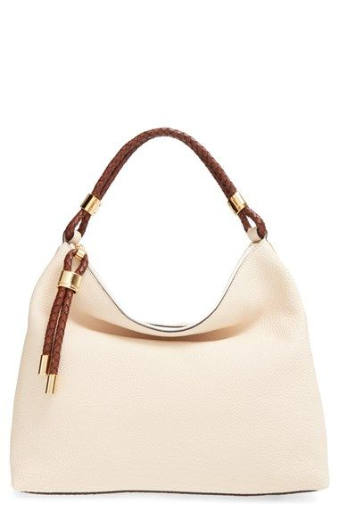 4c72ca9f1cfcb3 Michael Kors 'Large Skorpios' Leather Hobo available at #Nordstrom. Comes  in black.