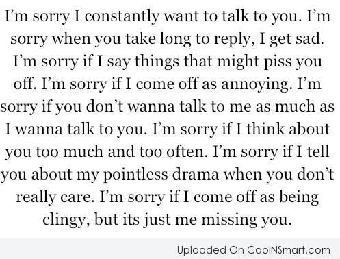 how to say sorry to your partner