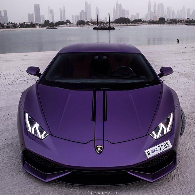 Purple Lamborghini Owner Nataliaitani Aldric A Lamborghini