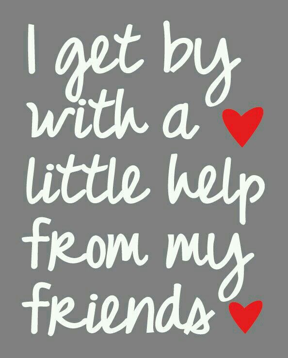 Image result for i get by with a little help from my friends lyrics