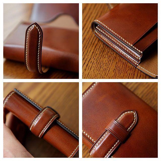 """"""" 코도반 카드/명함지갑 """" #leathercraft #leatherwork #handmade #leathergoods #leather…"""