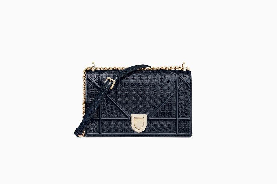 ab7814b6a398 Diorama bag in blue metallic calfskin - Diorama Dior
