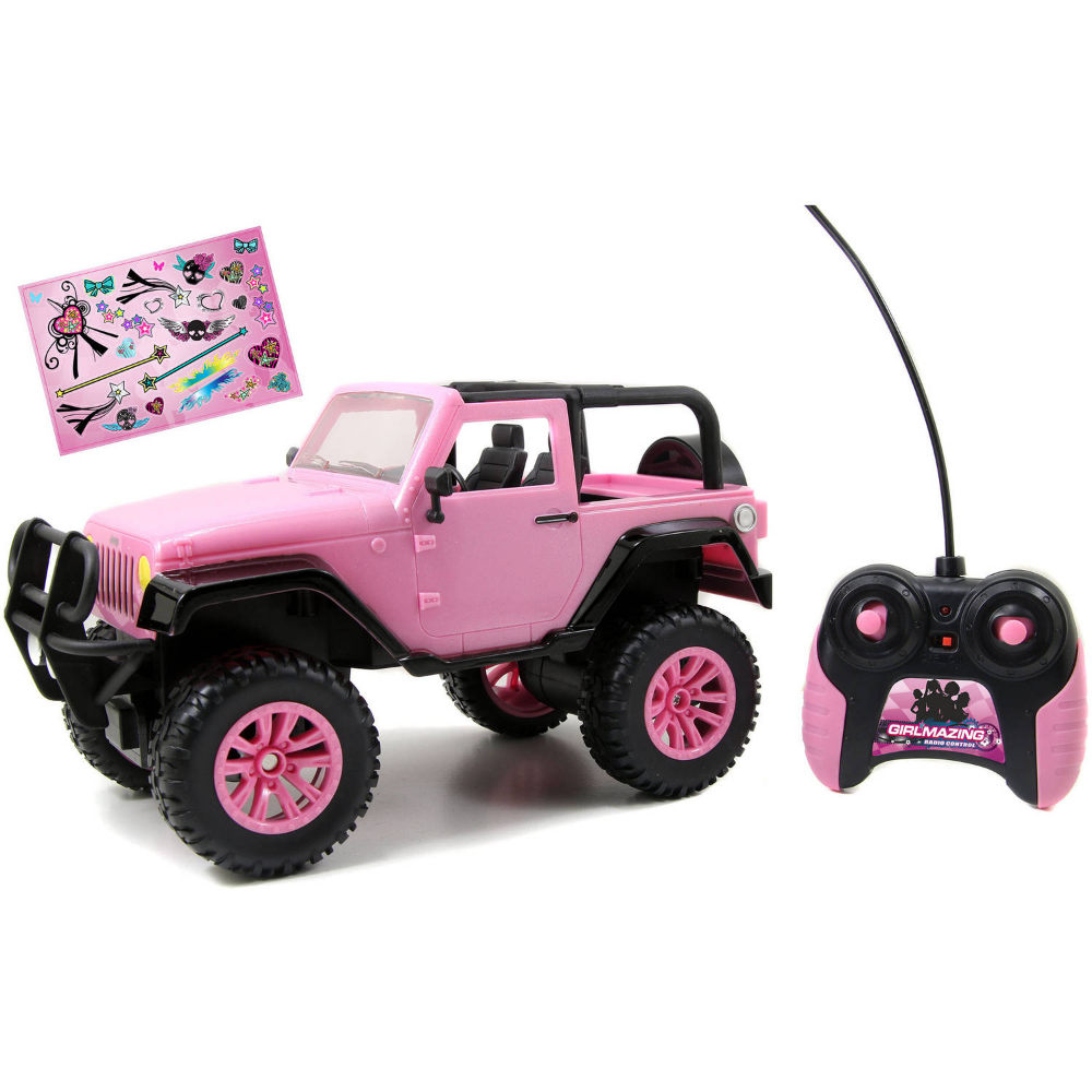 Jada Toys GirlMazing 1/16 Scale Remote Control Pink Jeep