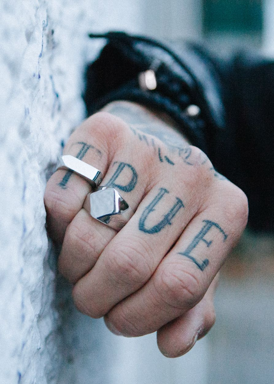 Tattoos for men ring contemporary stainless steel accessories by vitaly  tinta