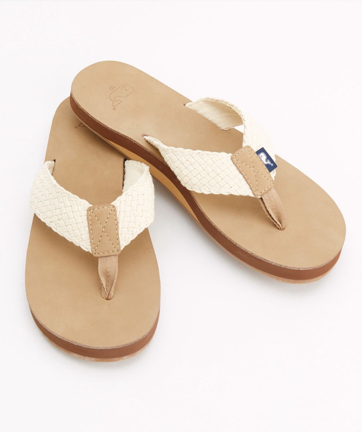 70dd56aba186e Leather Flip Flops With Washed Webbing by Vineyard Vines in 2018 ...