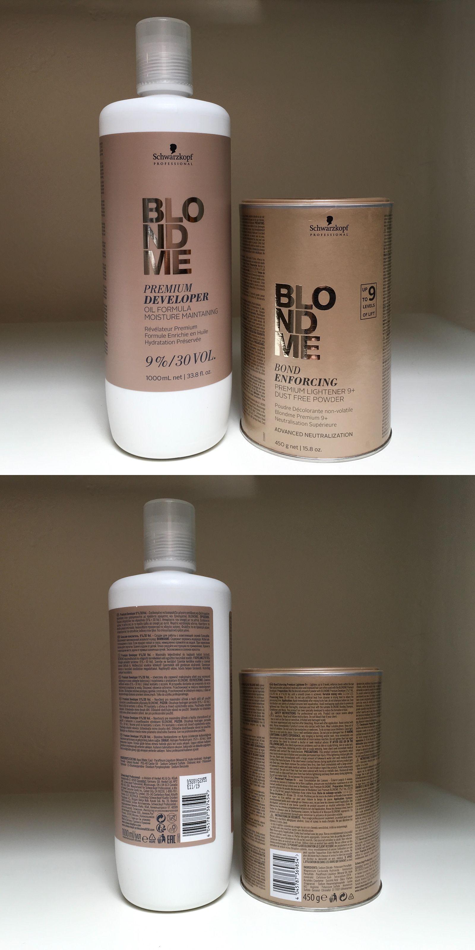 Hair Color Schwarzkopf Blondme Premium Lightener 9 And Developer 9