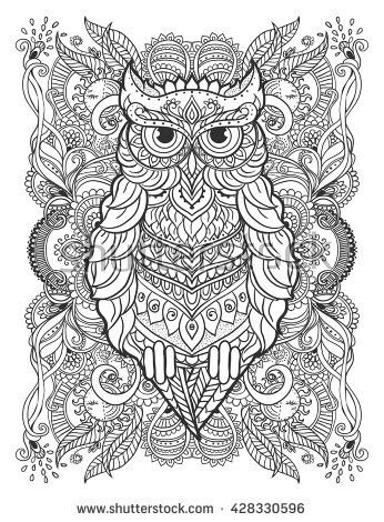 Pin On Coloring Owls