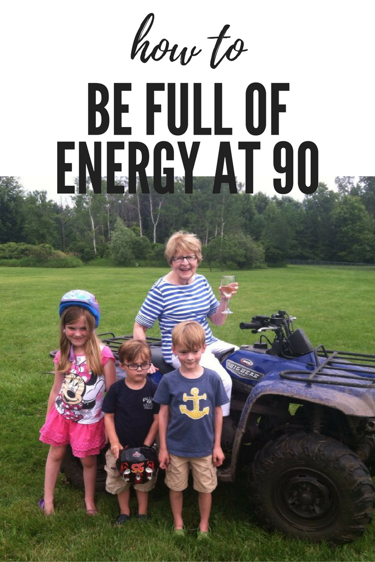My 90 year-old grandmother's tricks to staying young and full of energy at 90. #AD http://fourplusanangel.com/2018/01/growing-old-healthly/