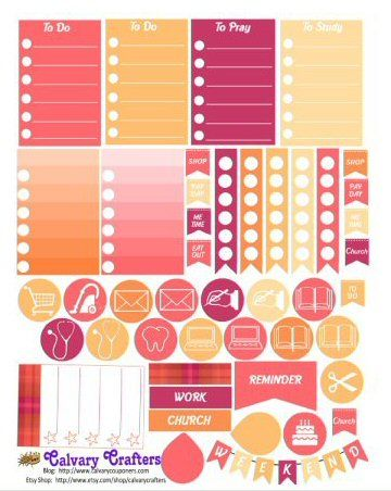 It is a graphic of Freebie Planner in happy planner