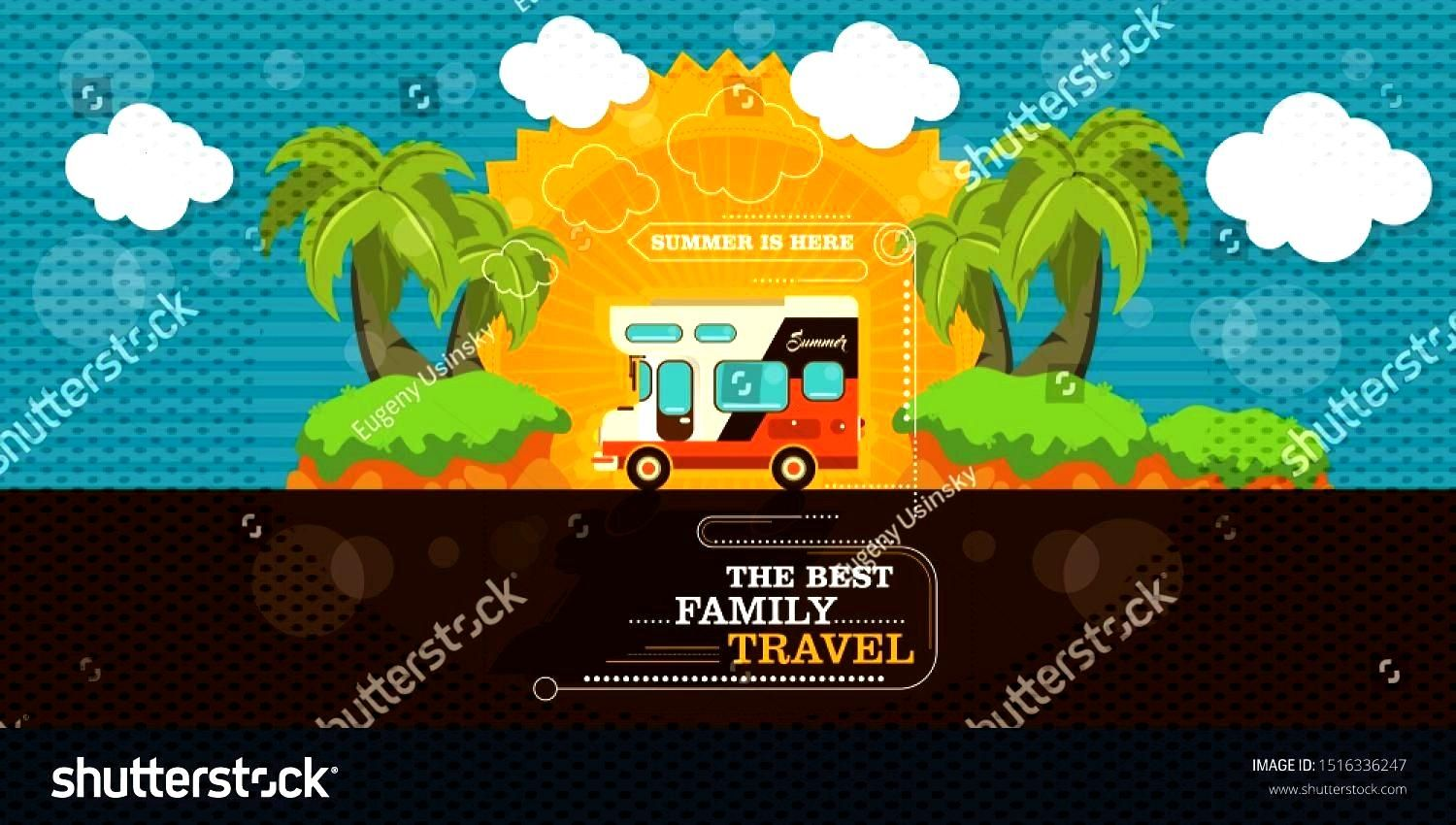 of driving campers rv on road in the trees. Family summer vacation travel, holiday trip concept ,Ve