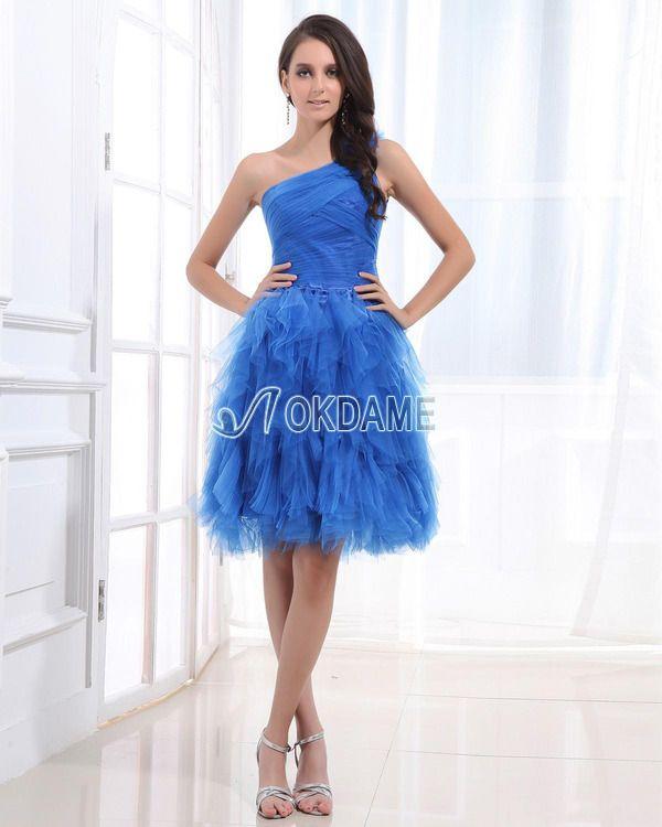 Prinzessin Ein Schulter tiefe Taile Süß 14 Geburtstag Kleid ...