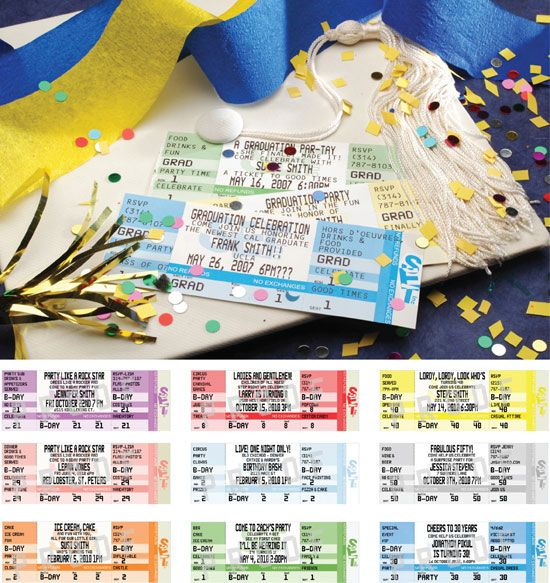 Graduation Authentic Ticket Invitation or Announcement \/ Designed - invitations that look like concert tickets