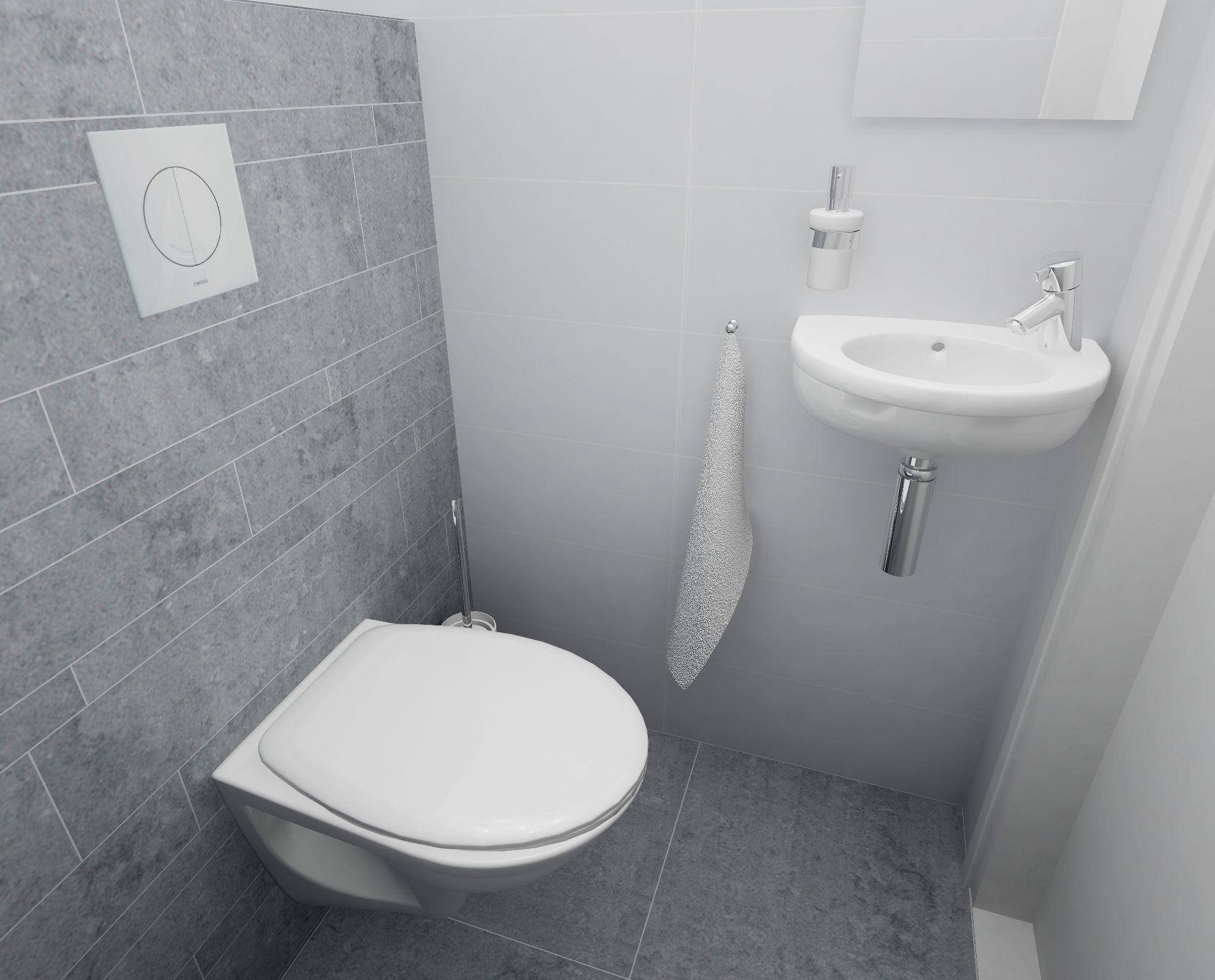 Toilet ontwerp met witte en grijze tegels toilet ontwerpen
