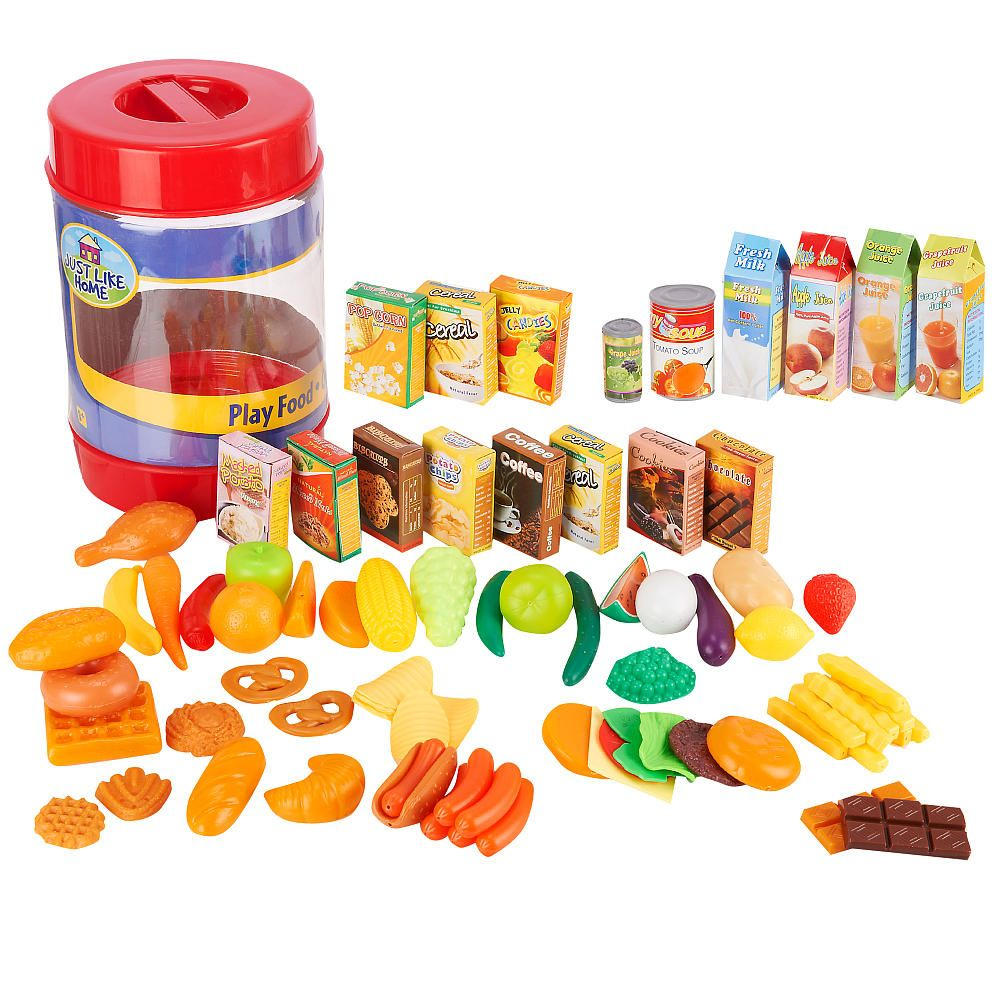 Just Like Home 85 Piece Play Food Set Colors Styles Vary