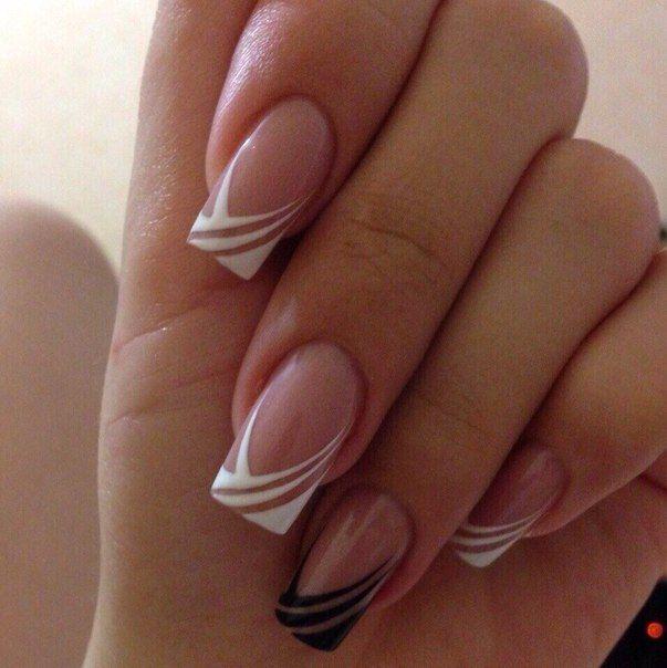 Маникюр - дизайн ногтей | uñas | Pinterest | Diseños de uñas, Negro ...