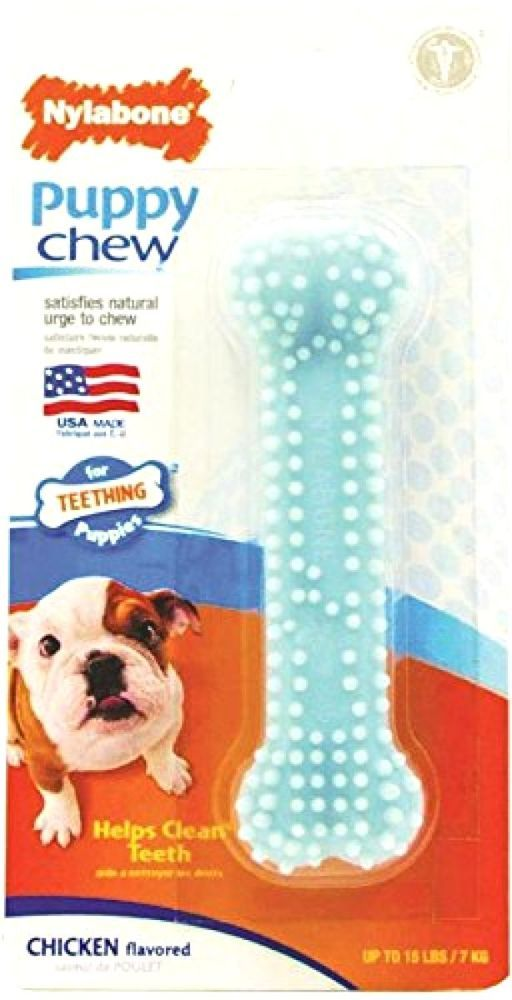 Nylabone Puppy Chew Dental Bone Durable Chew Bone Blue Teething