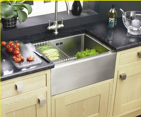 Stainless Steel Belfast Sink Better For My Lower Back Kitchen
