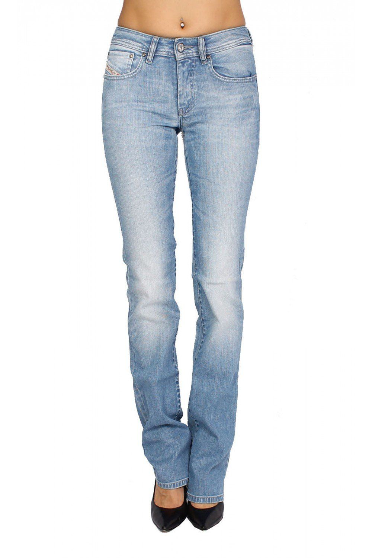 DIESEL - Women's Jeans RONHY 8XN - Regular Slim - Straight - Stretch - blue, W25 / L32. Style description: Regular Slim - Straight. Rise Style: regular. Closure Type: Zip. Wash Type: bleached. Composition: 98% Cotton 2% Elastane.