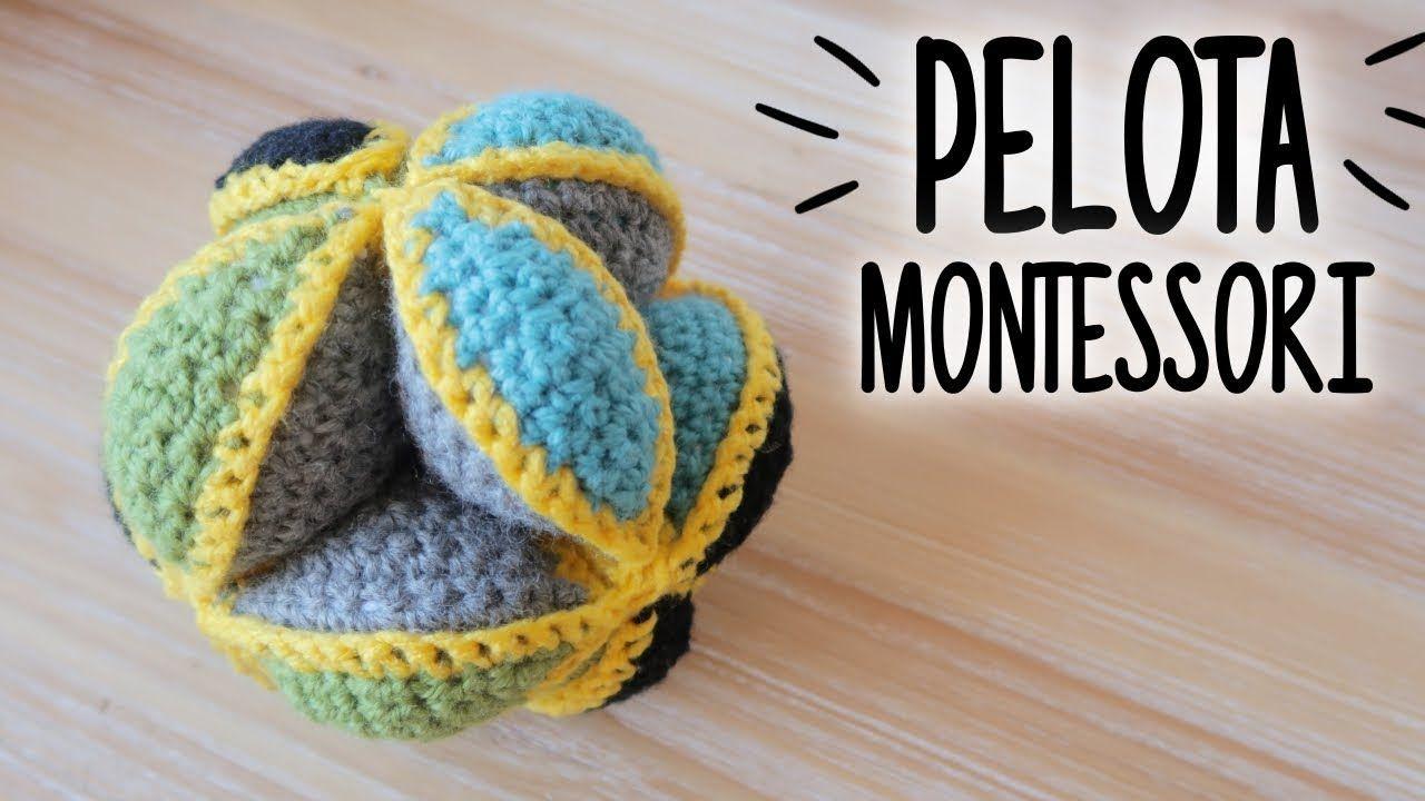 PELOTA MONTESSORI / PUZZLE BALL a crochet (juguete de estimulación ...