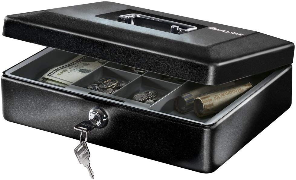 Includes removable money tray and key lock. Commonly used