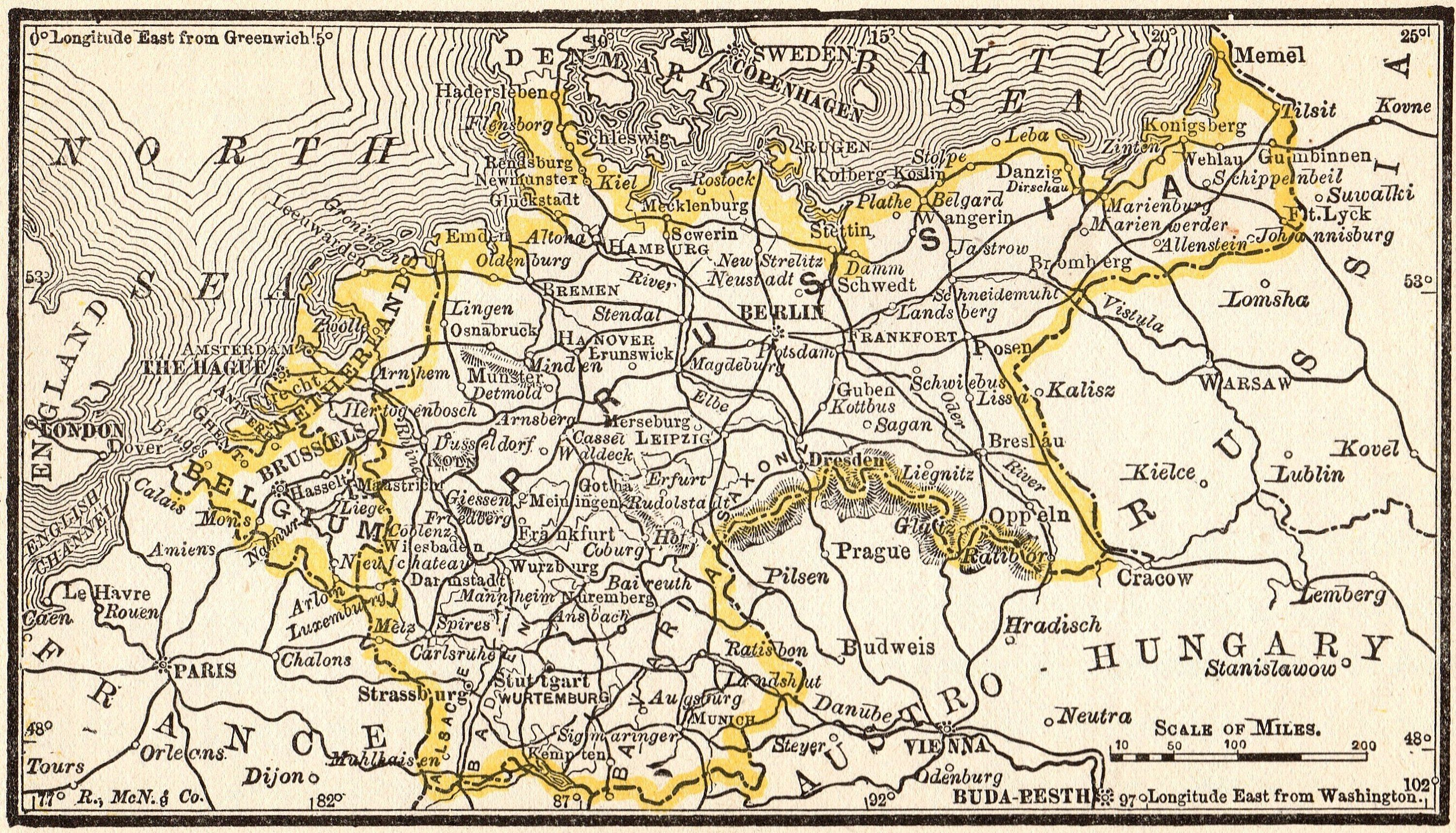 Map Of Germany 1980.1888 Rare Antique Germany Map Belgium And Netherlands Miniature Map