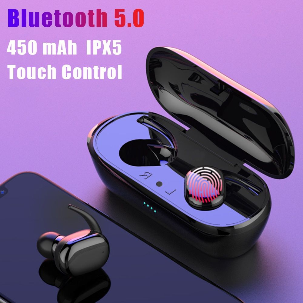 Y30 Tws Fingerprint Touch Bluetooth 5 0 Earphones Wireless 4d Stereo Headphones Active Noise Cancelling Gaming Headset For Airdo Di 2020