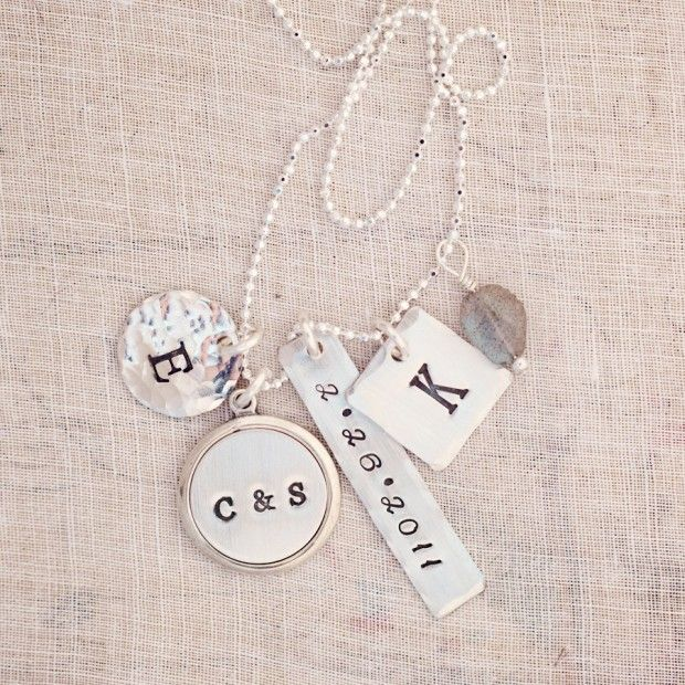 Push present dinah personalized charm necklace Three Sisters
