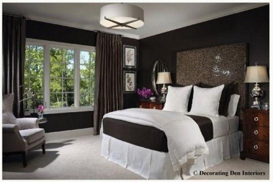 vert et chocolat brun sage chambre | Chambres à coucher ...