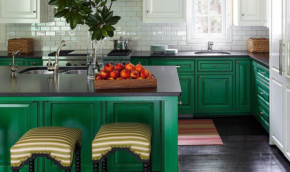 Designer Tips for Showstopping Green Kitchens | Green ...
