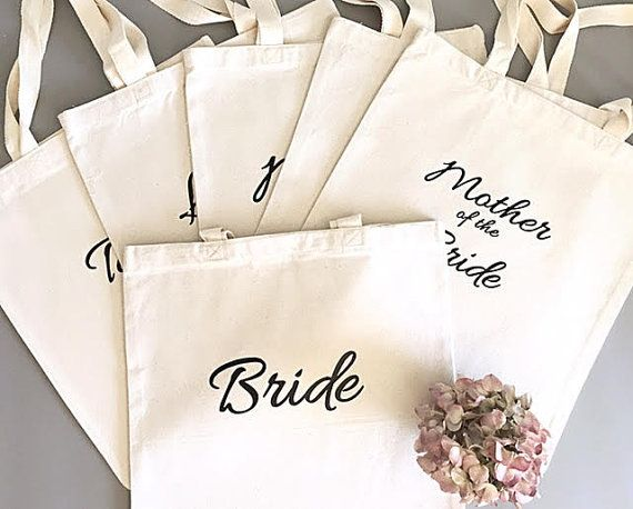 Custom Tote Bags Bridal Party What A