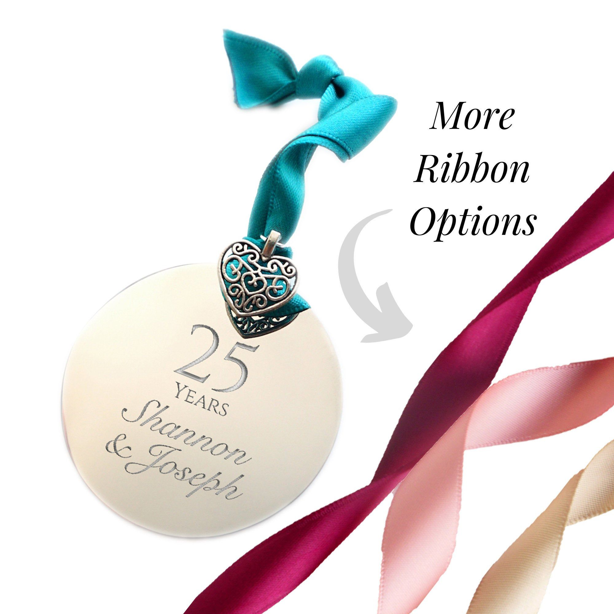 25th anniversary gift 25th anniversary ornament silver