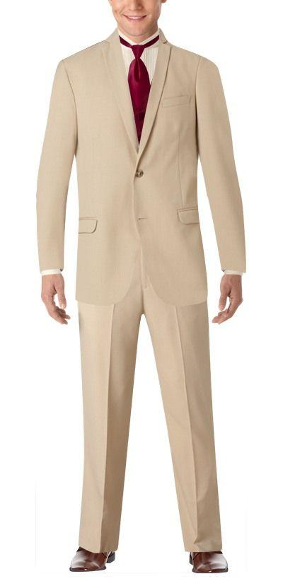 Pronto Uomo Tan Notch Lapel Suit