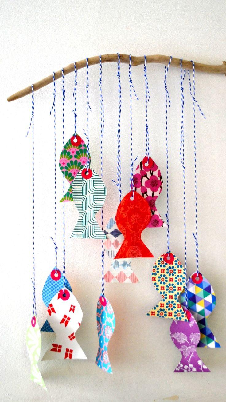 movil de peces (avec images) | Craft, Artisanat de poissons, Art ...