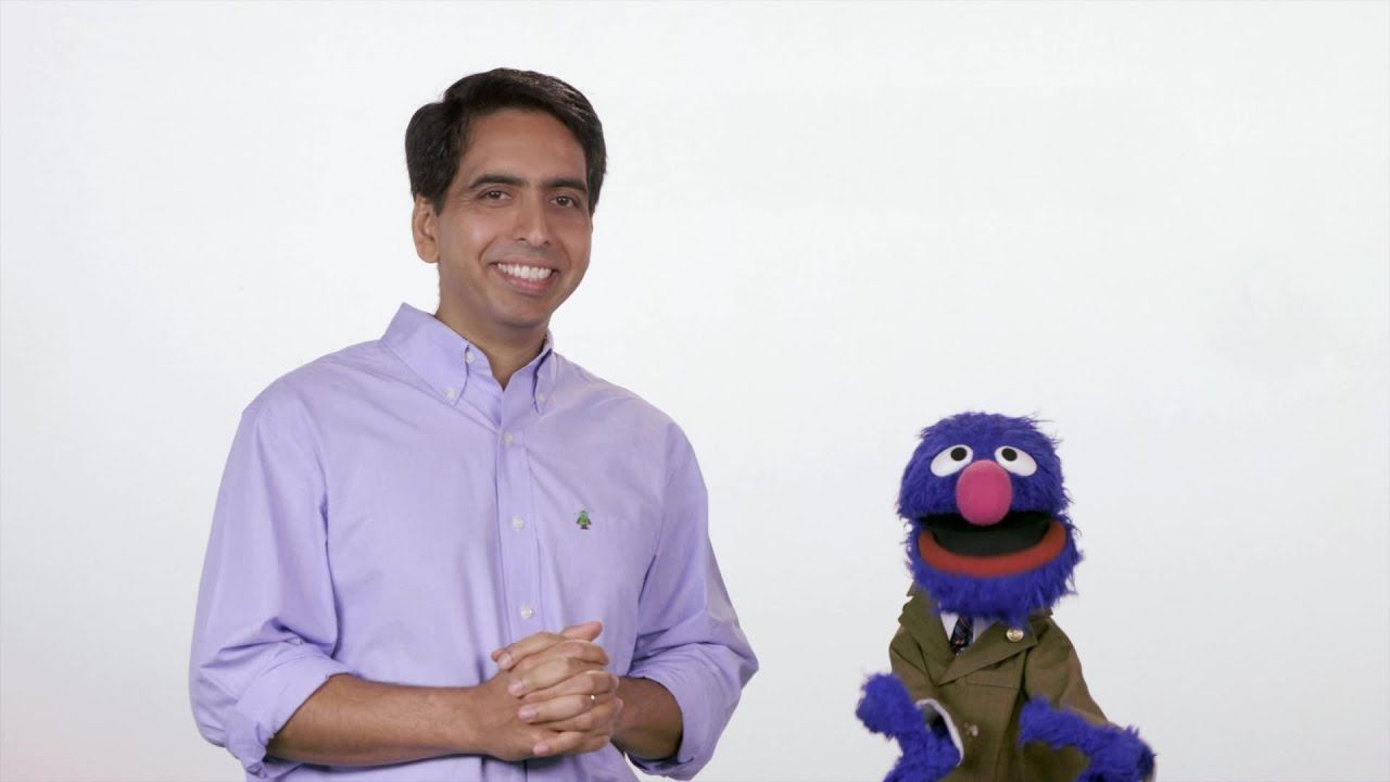 Sal teaches Grover about the electoral college