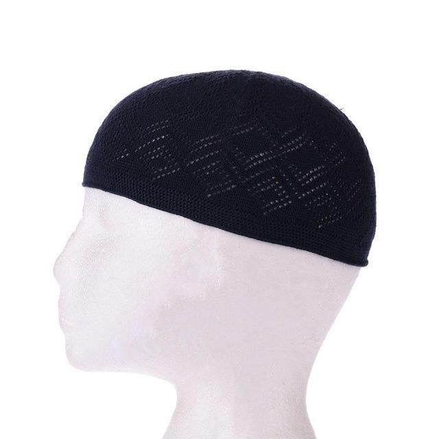 41396fb495d Muslim Men Prayer Hats Beanie Turkish Arabic Knitted Hat Crochet Islamic  Caps 2018