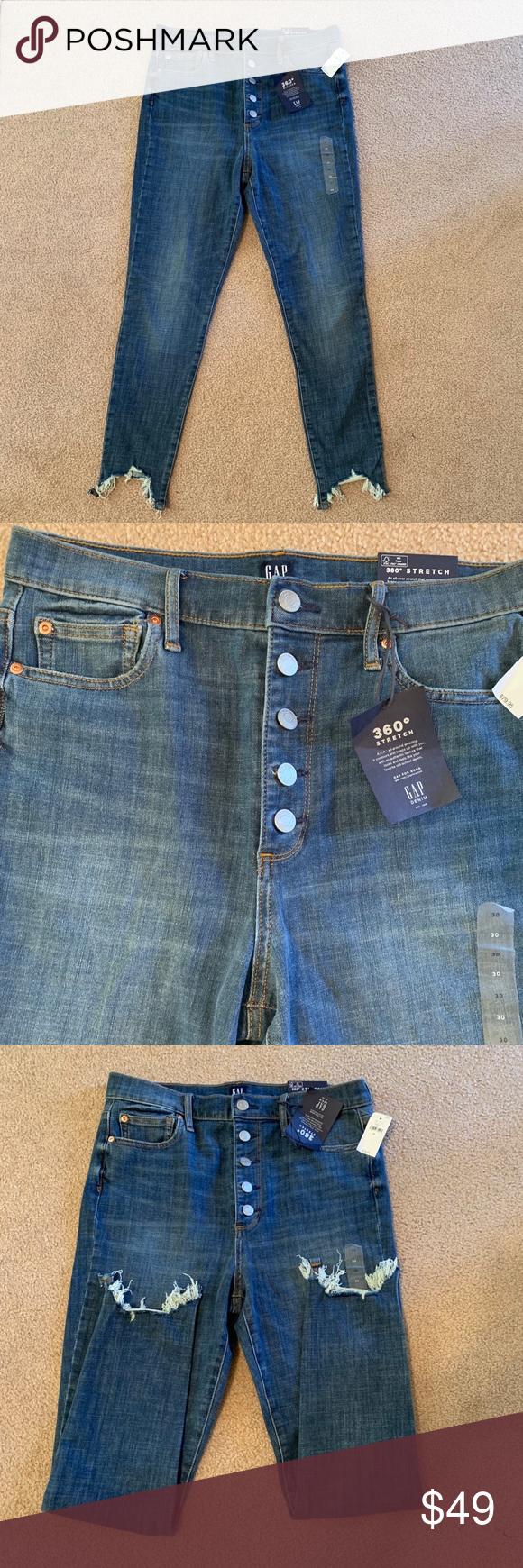 8592f4eca8 Super cute Gap jeans 360° stretch high rise true skinny ankle jeans. Stretch ,