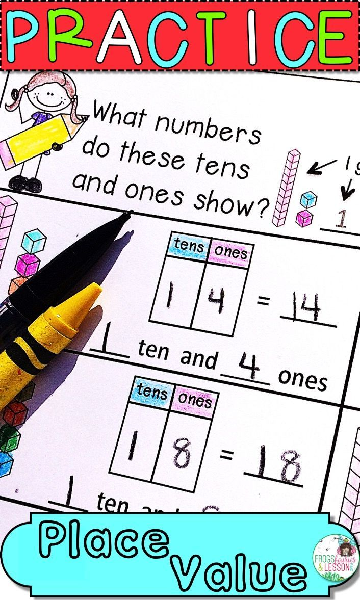 First Grade Place Value Comparing Numbers Math Worksheets And
