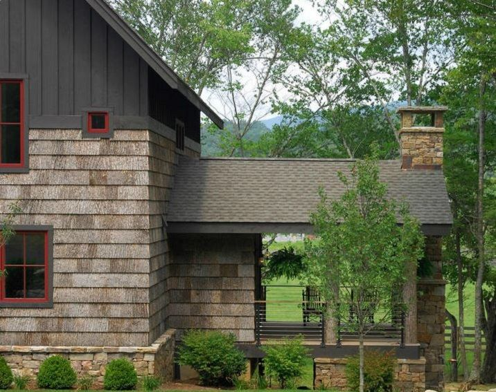 Bark Shingles Rustic Houses Exterior Rustic Porch House In The Woods
