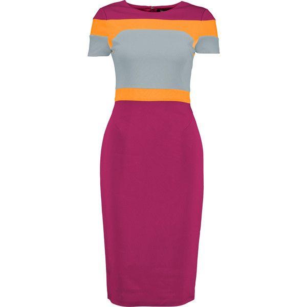 Raoul magenta, sky-blue and saffron Trinity dress.