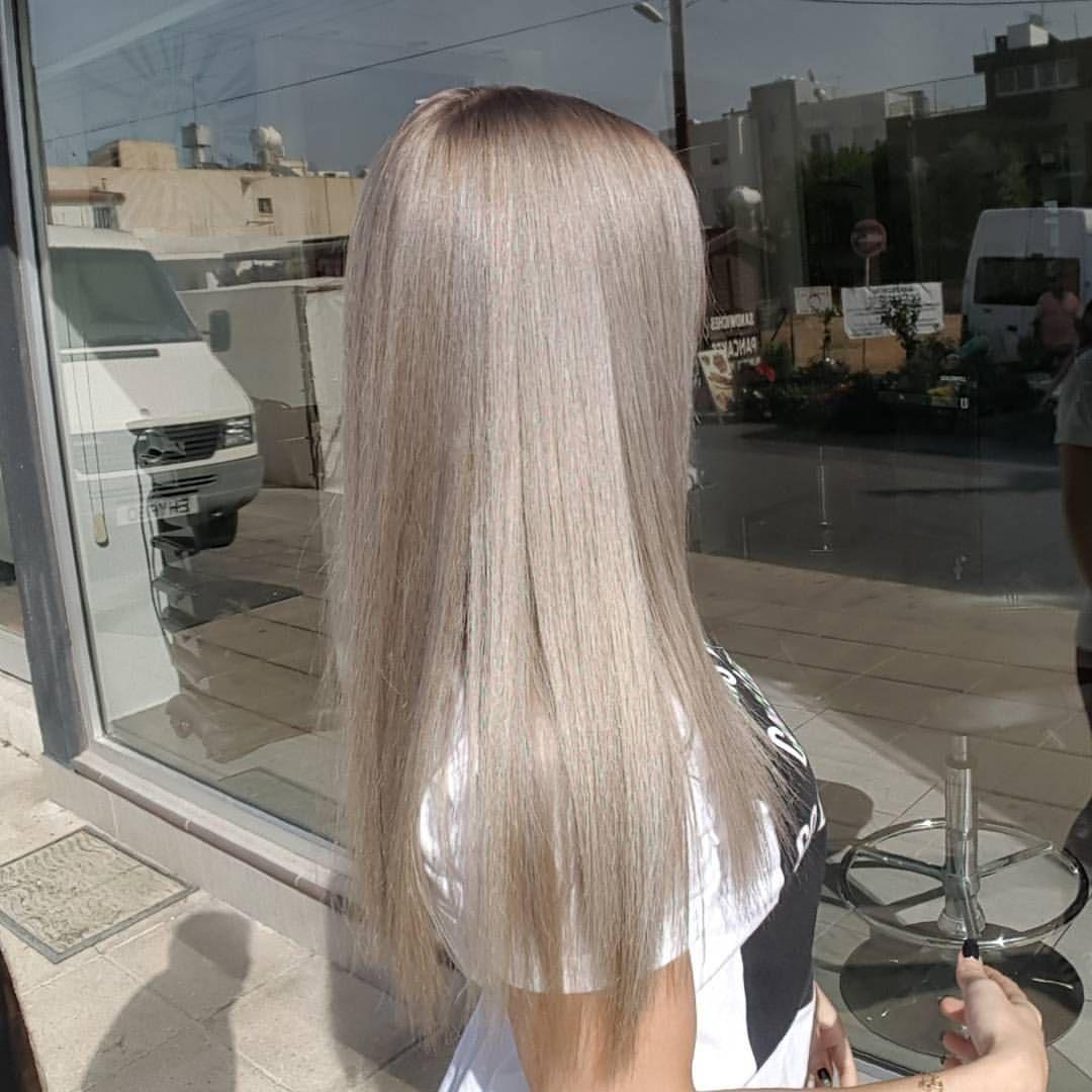 Nickys Hair Art On Instagram Silverwhite Silverblonde Blondehair Blonde Goldwellcolor Bondpro Blondehairdontcare Healthy Healthyhair Shinny